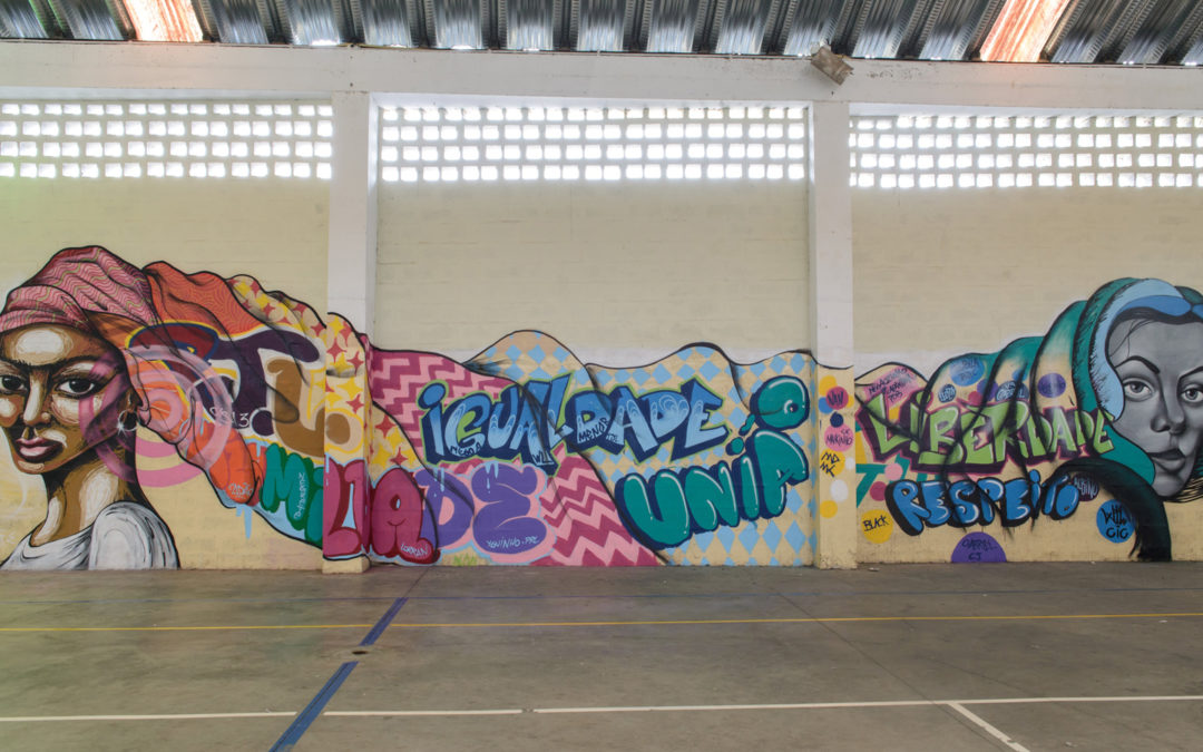 Cultura de direitos humanos representada em grafite