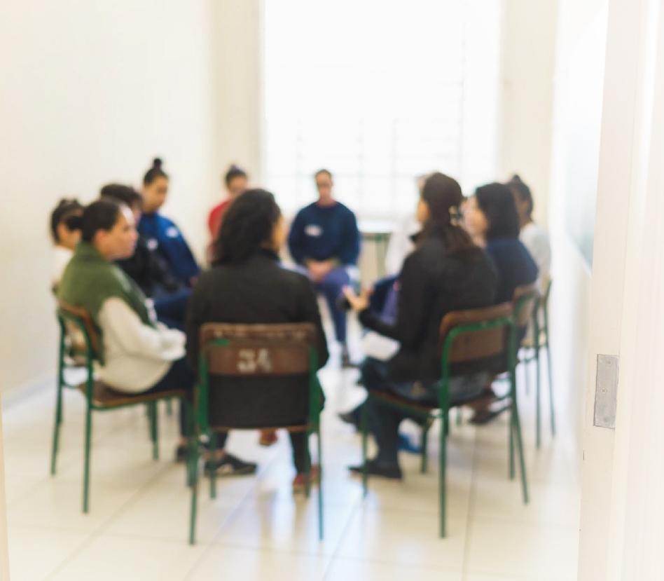 Roda de conversa entre mulheres, em projeto do Instituto Aurora - ODS 05