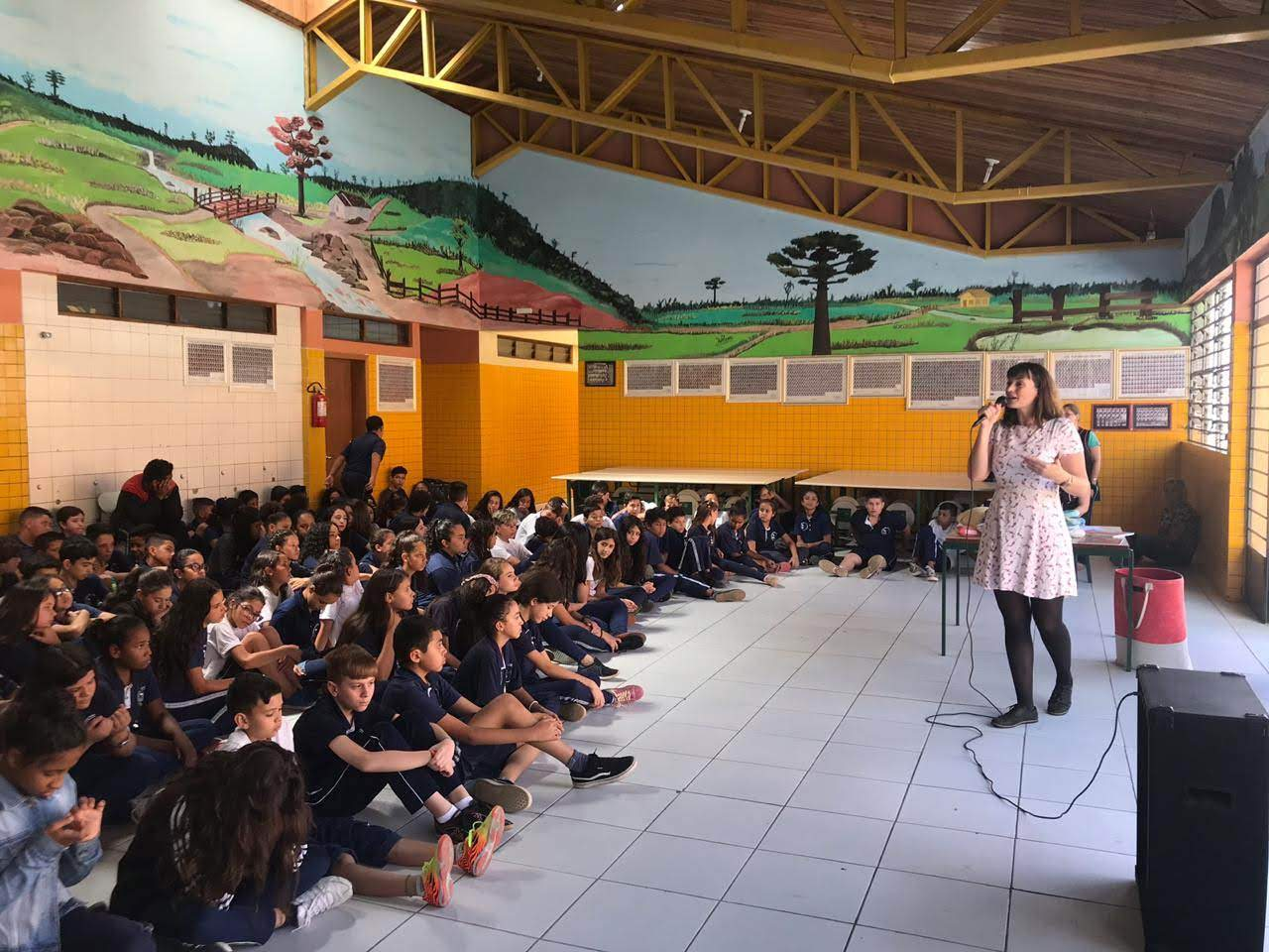 Ação dos 21 dias de ativismo no colégio Maria Gai Grendel